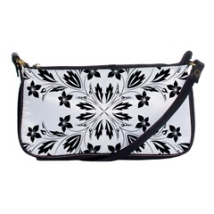 Floral Element Black White Shoulder Clutch Bags