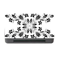 Floral Element Black White Memory Card Reader with CF