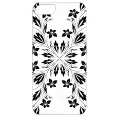 Floral Element Black White Apple iPhone 5 Classic Hardshell Case