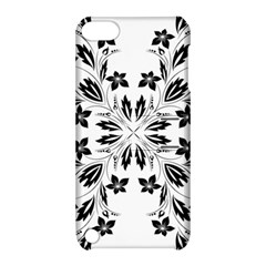 Floral Element Black White Apple iPod Touch 5 Hardshell Case with Stand