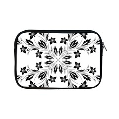 Floral Element Black White Apple iPad Mini Zipper Cases
