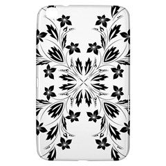 Floral Element Black White Samsung Galaxy Tab 3 (8 ) T3100 Hardshell Case