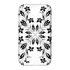 Floral Element Black White Samsung Galaxy S4 Classic Hardshell Case (PC+Silicone)