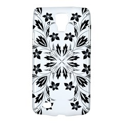 Floral Element Black White Galaxy S4 Active