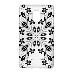 Floral Element Black White Galaxy Note Edge
