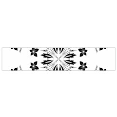 Floral Element Black White Flano Scarf (Small)