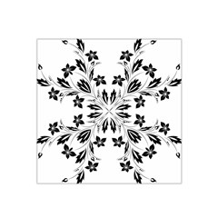 Floral Element Black White Satin Bandana Scarf