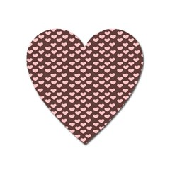 Chocolate Pink Hearts Gift Wrap Heart Magnet