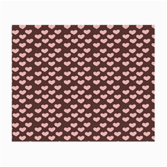 Chocolate Pink Hearts Gift Wrap Small Glasses Cloth