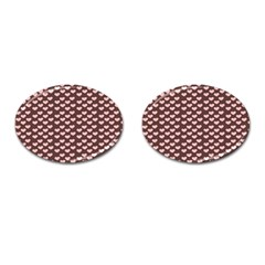 Chocolate Pink Hearts Gift Wrap Cufflinks (Oval)