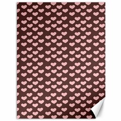 Chocolate Pink Hearts Gift Wrap Canvas 36  x 48
