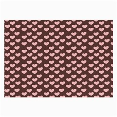 Chocolate Pink Hearts Gift Wrap Large Glasses Cloth