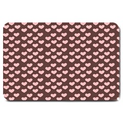 Chocolate Pink Hearts Gift Wrap Large Doormat