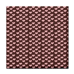 Chocolate Pink Hearts Gift Wrap Face Towel