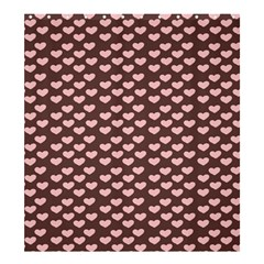 Chocolate Pink Hearts Gift Wrap Shower Curtain 66  x 72  (Large)