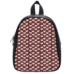 Chocolate Pink Hearts Gift Wrap School Bags (Small)