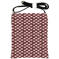 Chocolate Pink Hearts Gift Wrap Shoulder Sling Bags