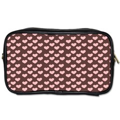 Chocolate Pink Hearts Gift Wrap Toiletries Bags