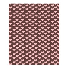 Chocolate Pink Hearts Gift Wrap Shower Curtain 60  x 72  (Medium)