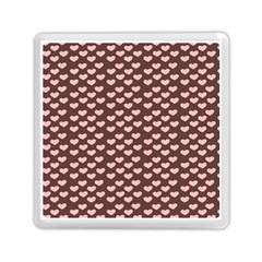 Chocolate Pink Hearts Gift Wrap Memory Card Reader (Square)
