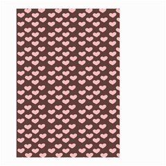 Chocolate Pink Hearts Gift Wrap Small Garden Flag (Two Sides)