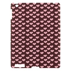 Chocolate Pink Hearts Gift Wrap Apple iPad 3/4 Hardshell Case