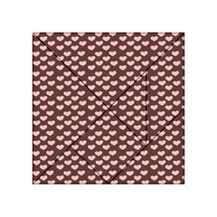 Chocolate Pink Hearts Gift Wrap Acrylic Tangram Puzzle (4  X 4 )