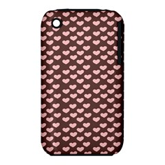 Chocolate Pink Hearts Gift Wrap iPhone 3S/3GS