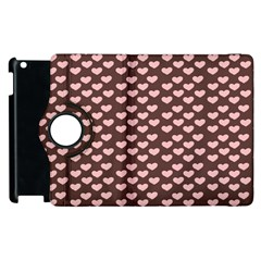 Chocolate Pink Hearts Gift Wrap Apple iPad 3/4 Flip 360 Case