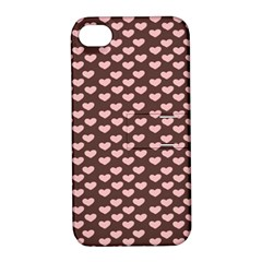 Chocolate Pink Hearts Gift Wrap Apple iPhone 4/4S Hardshell Case with Stand