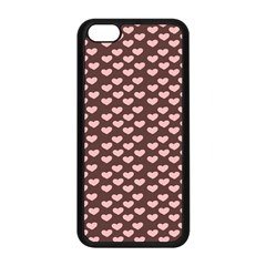 Chocolate Pink Hearts Gift Wrap Apple iPhone 5C Seamless Case (Black)