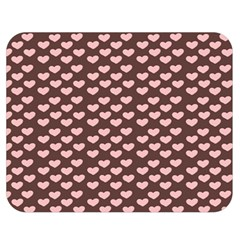 Chocolate Pink Hearts Gift Wrap Double Sided Flano Blanket (Medium)