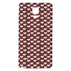 Chocolate Pink Hearts Gift Wrap Galaxy Note 4 Back Case