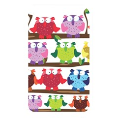 Funny Owls Sitting On A Branch Pattern Postcard Rainbow Memory Card Reader
