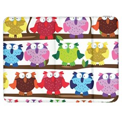 Funny Owls Sitting On A Branch Pattern Postcard Rainbow Samsung Galaxy Tab 7  P1000 Flip Case
