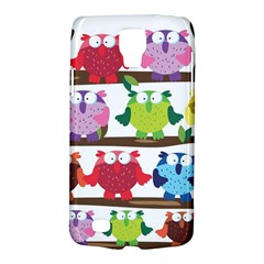 Funny Owls Sitting On A Branch Pattern Postcard Rainbow Galaxy S4 Active