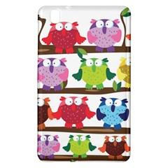 Funny Owls Sitting On A Branch Pattern Postcard Rainbow Samsung Galaxy Tab Pro 8.4 Hardshell Case