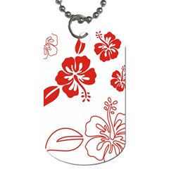 Hawaiian Flower Red Sunflower Dog Tag (One Side)