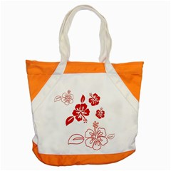 Hawaiian Flower Red Sunflower Accent Tote Bag