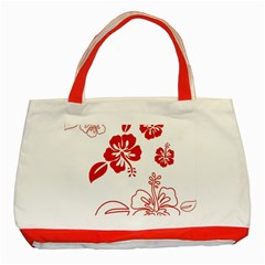 Hawaiian Flower Red Sunflower Classic Tote Bag (Red)