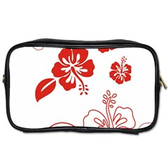 Hawaiian Flower Red Sunflower Toiletries Bags