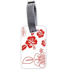 Hawaiian Flower Red Sunflower Luggage Tags (Two Sides)