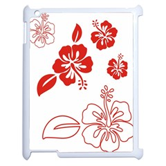 Hawaiian Flower Red Sunflower Apple iPad 2 Case (White)