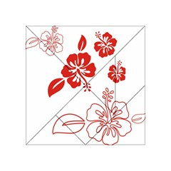 Hawaiian Flower Red Sunflower Acrylic Tangram Puzzle (4  x 4 )