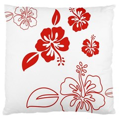 Hawaiian Flower Red Sunflower Large Cushion Case (Two Sides)