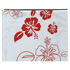Hawaiian Flower Red Sunflower Cosmetic Bag (XXXL)