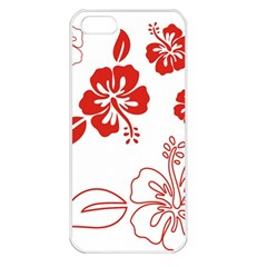 Hawaiian Flower Red Sunflower Apple iPhone 5 Seamless Case (White)