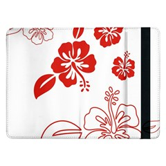 Hawaiian Flower Red Sunflower Samsung Galaxy Tab Pro 12.2  Flip Case