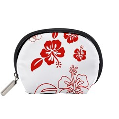 Hawaiian Flower Red Sunflower Accessory Pouches (small)