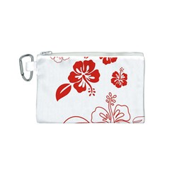 Hawaiian Flower Red Sunflower Canvas Cosmetic Bag (S)